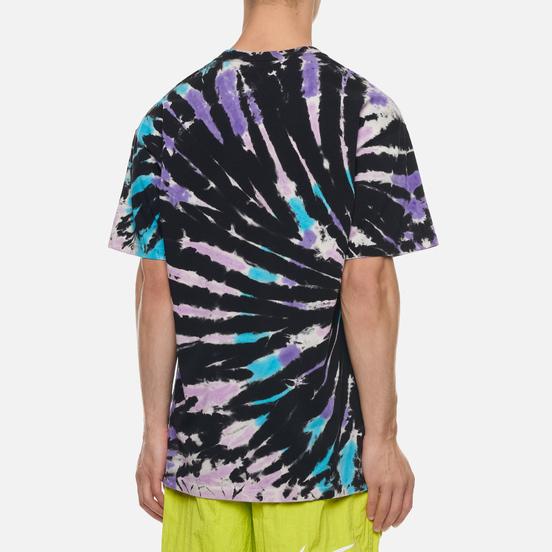 Мужская футболка Nike Tie Dye Black/Baltic Blue/Hyper Pink