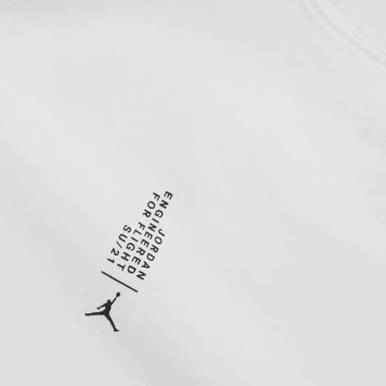 Мужская футболка Jordan 23 Engineered 85 Wordmark Crew Neck White