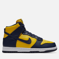 Мужские кроссовки Nike Dunk High SP Michigan Varsity Maize/Midnight Navy