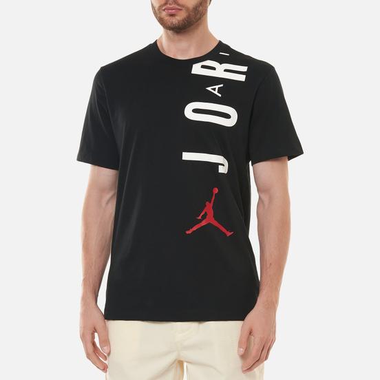 Мужская футболка Jordan Air Stretch Crew Black/White/Gym Red