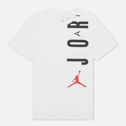 Мужская футболка Jordan Air Stretch Crew White/Black/Gym Red
