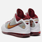 Мужские кроссовки Nike LeBron VII QS MVP White/Bronze/Team Red/Wolf Grey фото - 2