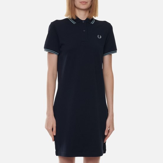 Женское платье Fred Perry Twin Tipped Navy/Silver Blue/Silver Blue