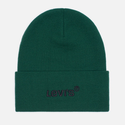 Шапка Levi's Wordmark Beanie Regular Green