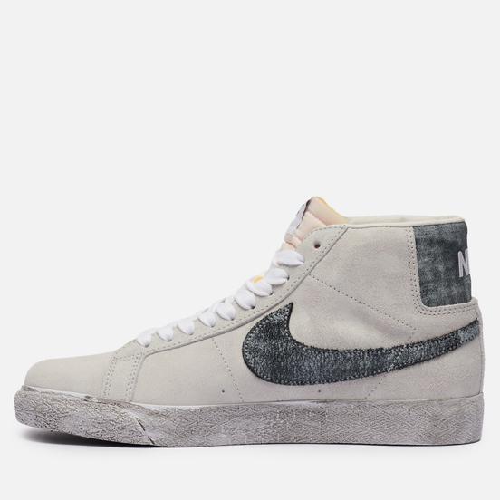 Кроссовки Nike SB Zoom Blazer Mid PRM Grey Fog/Black/White