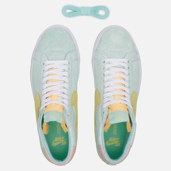 Мужские кроссовки Nike SB Zoom Blazer Mid PRM Light Dew/Light Zitron/Green Glow