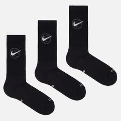 Комплект носков Nike 3-Pack Everyday Crew Basketball Black/White