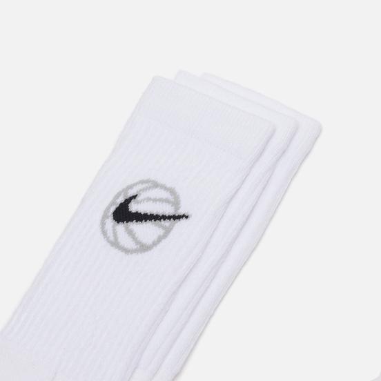 Комплект носков Nike 3-Pack Everyday Crew Basketball White/Black