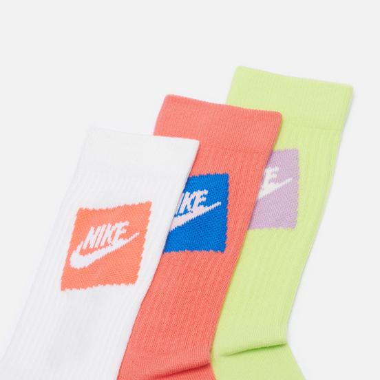 Комплект носков Nike 3-Pack Everyday Essential Red/White/Lime