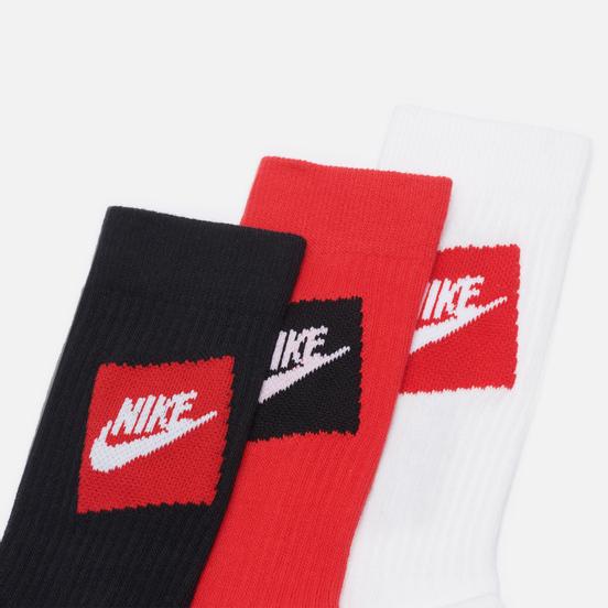 Комплект носков Nike 3-Pack Everyday Essential Black/White/Red