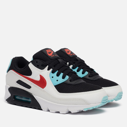 Женские кроссовки Nike Air Max 90 Summit White/Chile Red/Bleached Aqua