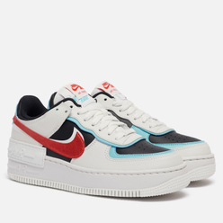 Женские кроссовки Nike Air Force 1 Shadow Summit White/Chile Red/Bleached Aqua