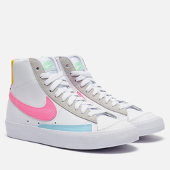 Женские кроссовки Nike Blazer Mid Vintage '77 White/Pink Glow/Pure Platinum