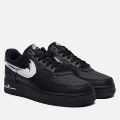 Мужские кроссовки Nike Air Force 1 07 LV8 Brushstroke Swoosh Black/White/University Red