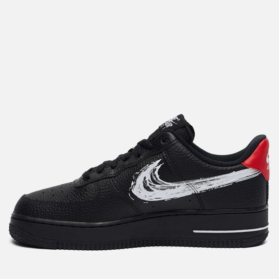 Мужские кроссовки Nike Air Force 1 07 LV8 Brushstroke Swoosh Black/White/University Red