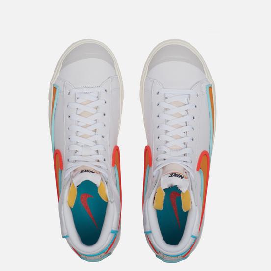 Мужские кроссовки Nike Blazer Mid 77 Infinite White/Kumquat/Aurora Green