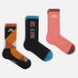 Комплект носков Nike SB 3-Pack Everyday Max Lightweight Crew Multi-Color/Orange/Pink/Black фото - 0