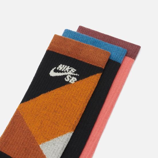 Комплект носков Nike SB 3-Pack Everyday Max Lightweight Crew Multi-Color/Orange/Pink/Black