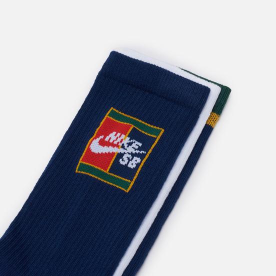Комплект носков Nike SB 3-Pack Everyday Max Lightweight Crew Multi-Color/Navy/Red/White