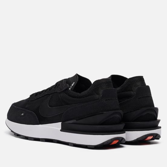 Мужские кроссовки Nike Waffle One Black/Black/White/Orange