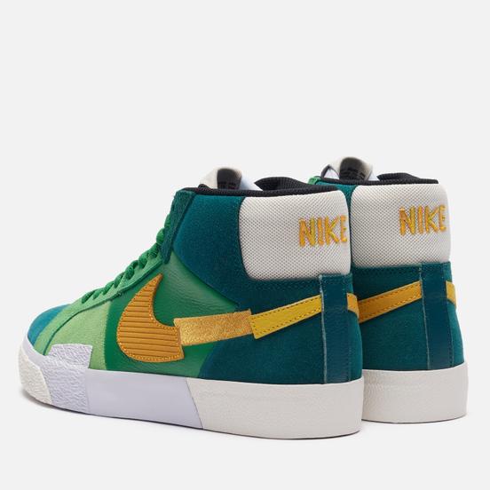 Кроссовки Nike SB Zoom Blazer Mid Premium Mosaic Aloe Verde/University Gold/Rainforest