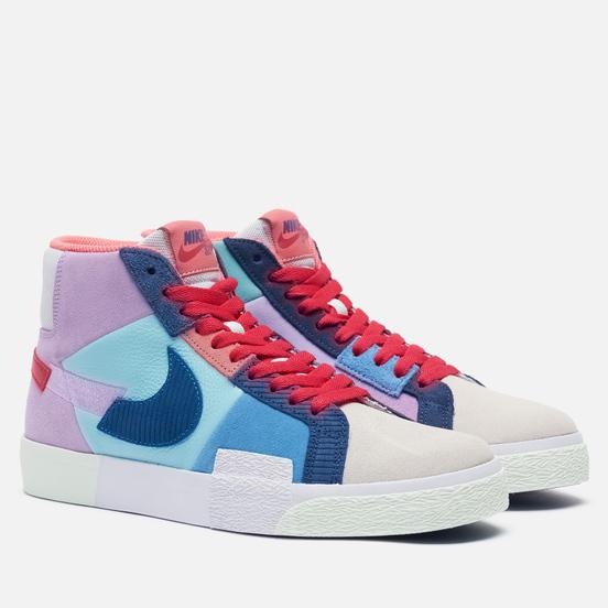 Мужские кроссовки Nike SB Zoom Blazer Mid Premium Mosaic Lilac/Court Blue/Copa/Dutch Blue