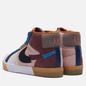 Кроссовки Nike SB Zoom Blazer Mid Premium Mosaic Dark Wine/Black/Pink Oxford/Cashmere фото - 2