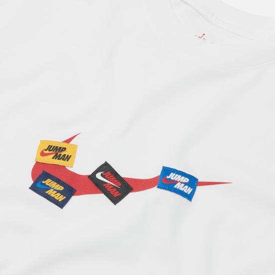 Мужская футболка Jordan Jumpman 85 Crew White/Gym Red/Gym Red