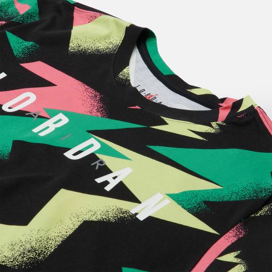 Мужская футболка Jordan Jumpman Air All Over Print Black/Sunset Pulse