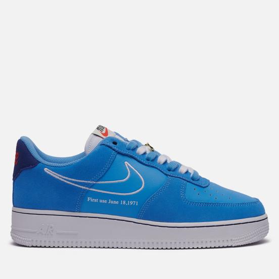 Мужские кроссовки Nike Air Force 1 07 Low First Use University Blue/White/Deep Royal Blue