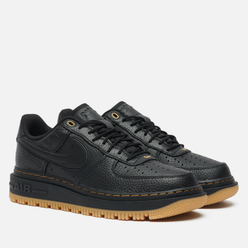Кроссовки Nike Air Force 1 Luxe Black/Black/Bucktan/Gum Yellow