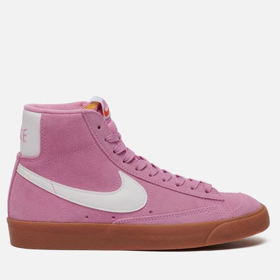 Женские кроссовки Nike Blazer Mid 77 Suede Beyond Pink/White/Gum Med Brown