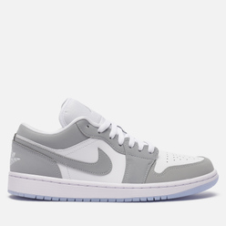 Мужские кроссовки Jordan Wmns Air Jordan 1 Low White/Wolf Grey/Aluminum