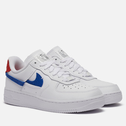 Женские кроссовки Nike Air Force 1 LXX Vandalised Snakeskin White/Game Royal/University Red