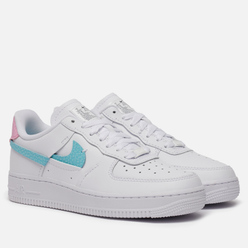 Женские кроссовки Nike Air Force 1 LXX Vandalised Snakeskin White/Bleached Aqua/Pink Rise