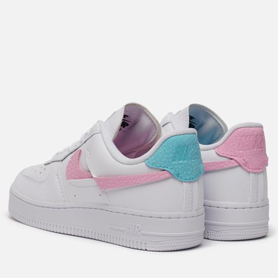Женские кроссовки Nike Air Force 1 LXX Vandalised Snakeskin White/Bleached Aqua/Pink Rise