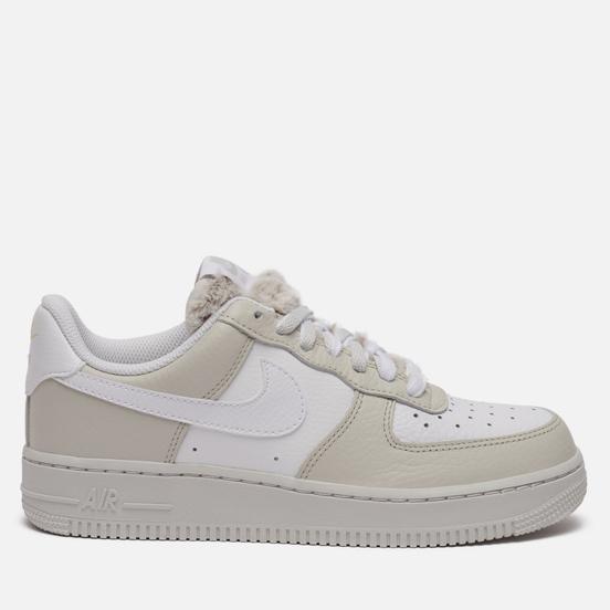Женские кроссовки Nike Air Force 1 07 Light Bone/White/Photon Dust/Life Lime