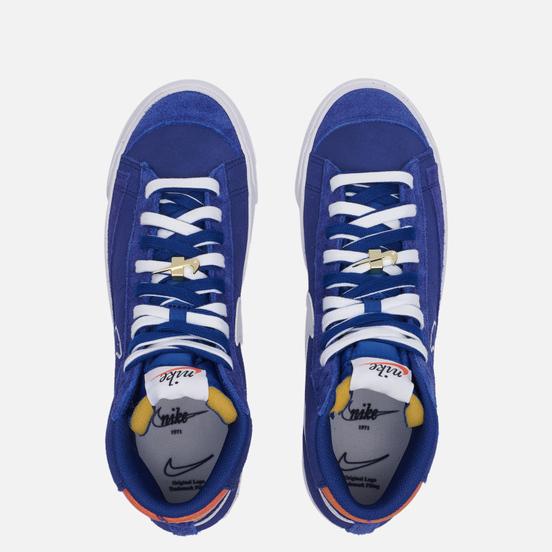 Мужские кроссовки Nike Blazer Mid 77 First Use Deep Royal Blue/White/Orange