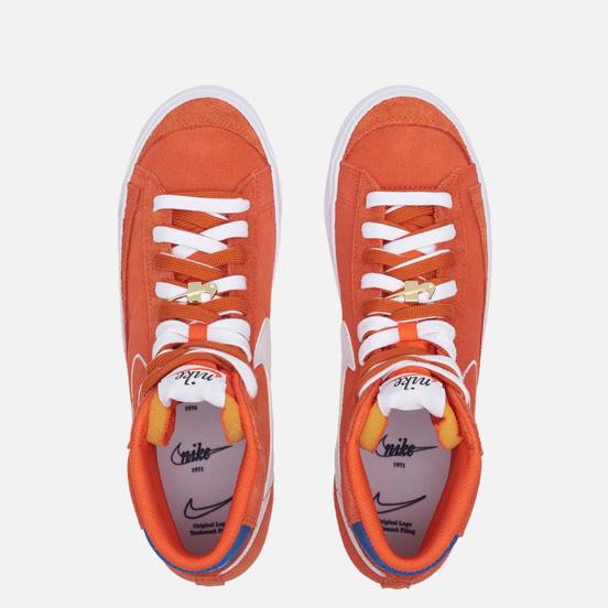 Мужские кроссовки Nike Blazer Mid 77 First Use Orange/White/Deep Royal Blue