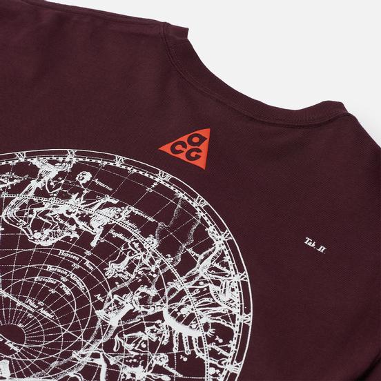 Мужская футболка Nike ACG NRG Stargaze Deep Burgundy/Team Orange