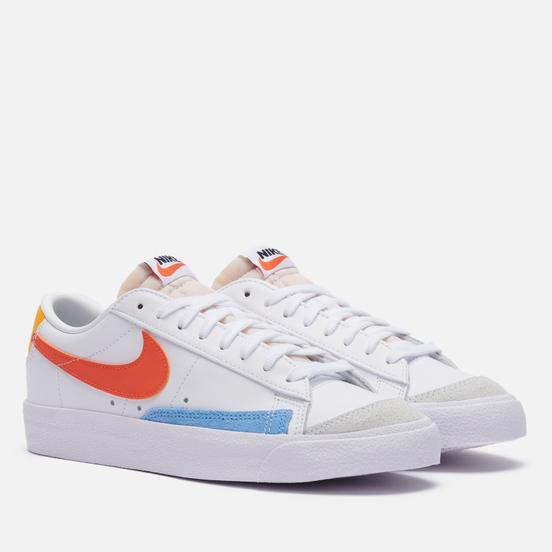 Женские кроссовки Nike Blazer Low 77 White/Orange/University Gold