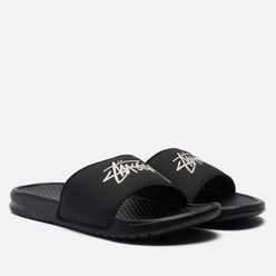 Мужские сланцы Nike x Stussy Benassi Black/Sail