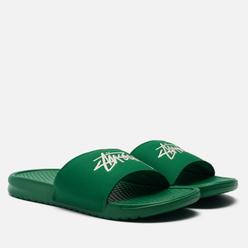 Сланцы Nike x Stussy Benassi Pine Green/Sail