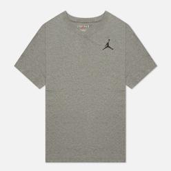 Мужская футболка Jordan Jumpman Embroidered Crew Carbon Heather/Black