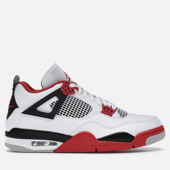 Мужские кроссовки Jordan Air Jordan 4 Retro White/Fire Red/Black/Tech Grey