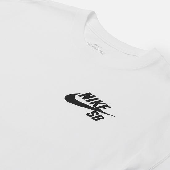 Мужская футболка Nike SB Logo White/Black