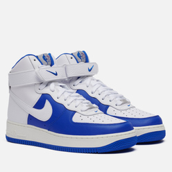 Мужские кроссовки Nike x NBA Air Force 1 High 07 LV8 Embroidered White/White/Hyper Royal/Sail