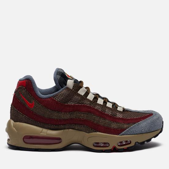 Мужские кроссовки Nike Air Max 95 Freddy Krueger Velvet Brown/University Red/Team Red