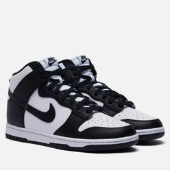 Мужские кроссовки Nike Dunk High Retro White/Black/Total Orange