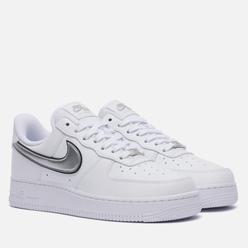 Женские кроссовки Nike Air Force 1 07 Essentials White/Metallic Silver/Black